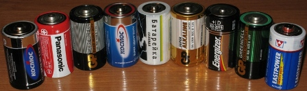 Тест батареек - больших бочонков - формата C (R20, LR20)